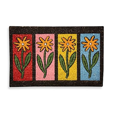 Flower Doormat by Flower Row Coir Door Mat Bed Bath Beyond
