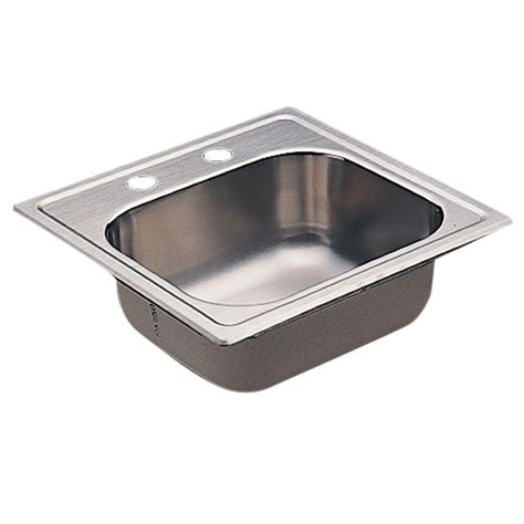 Moenstone Kitchen Sinks Moen 2000 Series Drop In Stainless Steel 15 In 2 Bar Single Bowl Kitchen Sink Kg2045622