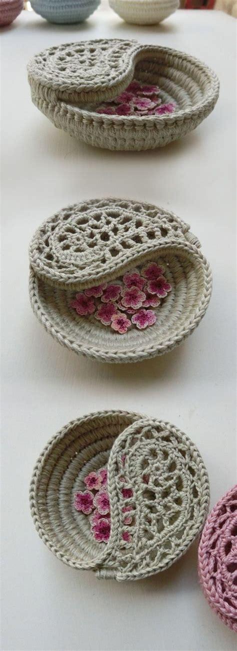 crochet pattern yin yang crochet pattern 4 quot yin yang jewelry dish crochet basket