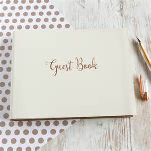 guest book gold wedding guest book by begolden