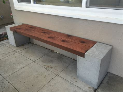 concrete and wood bench step by step instructions awesomeness projects