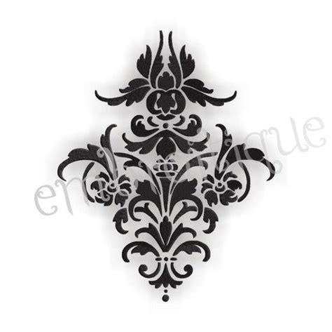 damask pattern font damask flourish 3 single embroidery design for machine