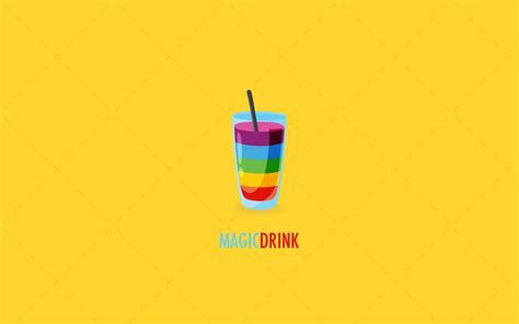 cocktail logo creative colourful magic drink logo for sale lobotz
