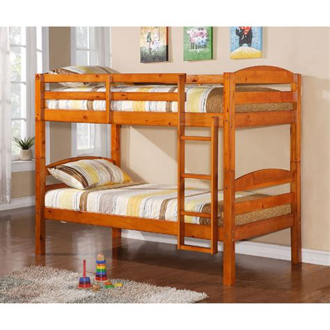 Walker Edison Bunk Bed Walker Edison Solid Wood Size Bunk Bed Honey Bwstothy