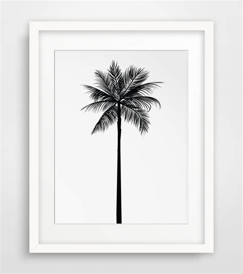 free printable tree wall art palm tree print palm leaves print palm tree by