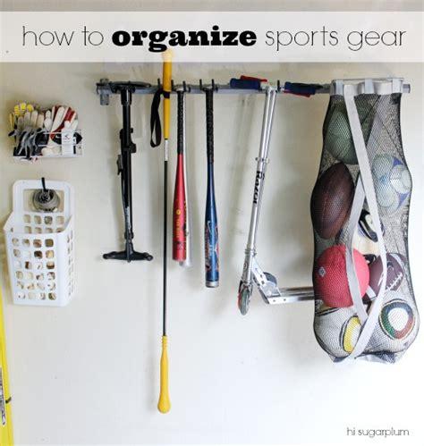 how to organize my garage organized garage the sports gear yard tools hi