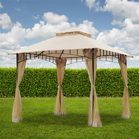 replacement canopy  outsunny ft  tiered gazebo riplock  garden winds