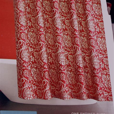 jacobean shower curtain target home red jacobean floral fabric shower curtain