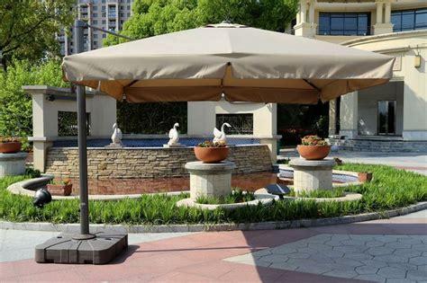 Cantilever Patio Umbrella Ideas Builddirect Shade Cooling Offset Patio Umbrellas 10 Ft Deluxe Cantilever Umbrella With