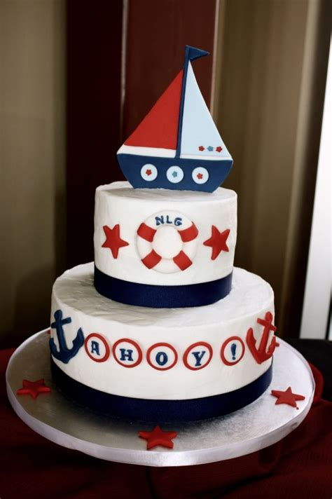 Nautical Baby Shower Cakes by Nautical Baby Shower Cake Nautical Cake Sailboat