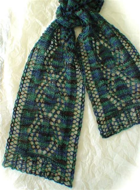 knitting pattern for narrow scarf spring lace leaves scarf kal march knit heartstrings