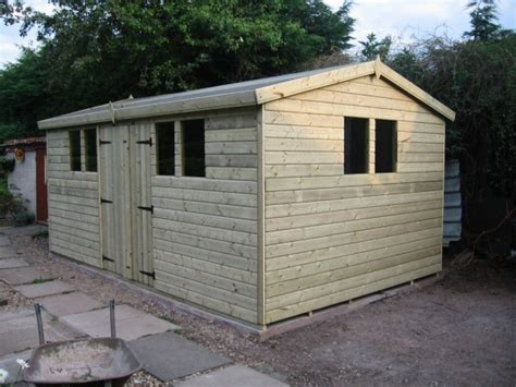Midland Sheds 20x8 19mm ultimate tanalised apex shed 19mm midland