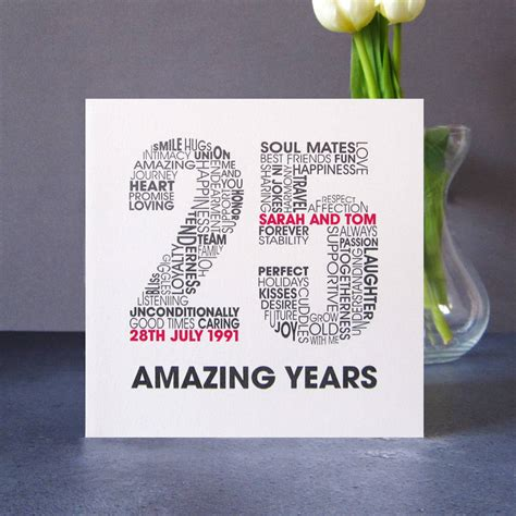 25th Wedding Anniversary Ecard by Personalised Silver Wedding Anniversary Card By Mrs L
