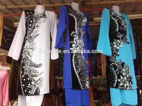 Baju Kemeja Silk Des 1 fshion design baju kurung of silk fabric with high quality
