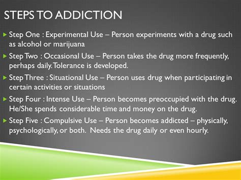 Steps To Detox From by Abuse Chapter Ppt
