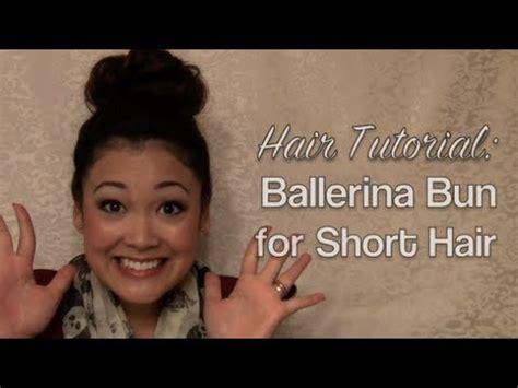 ballerinas with short hair hair tutorial ballerina bun for short hair youtube