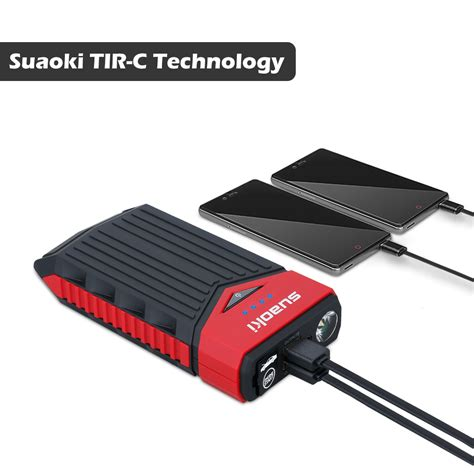 jump start with battery charger portable 12000mah mini car jump starter booster charger