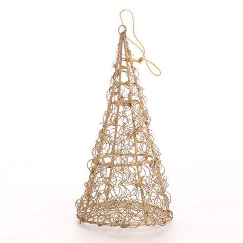 shiny gold mesh metal tree ornament christmas ornaments