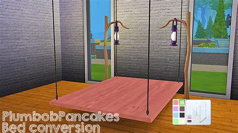 the sims 4 bed cc my sims 4 blog desk and hanging bed frame conversion by