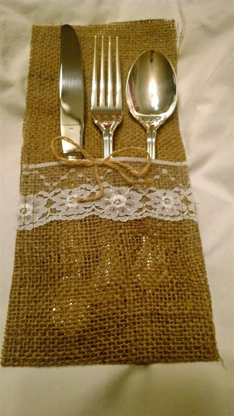 silverware holder for table 25 best ideas about burlap silverware holder on