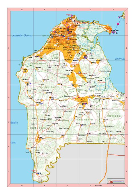 africa map gambia gambia stra 223 enkarte