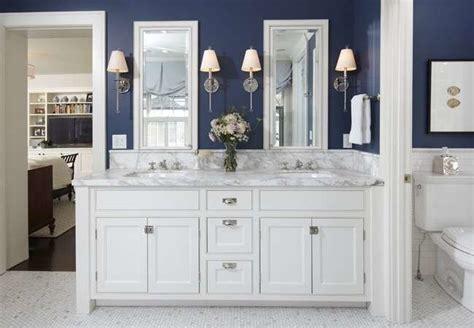 navy and white bathroom ideas navy blue bathroom bathroom paint colors 11 ideas