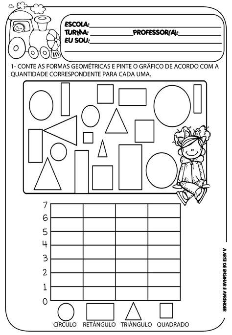 figuras geometricas atividades 4o ano atividades formas geom 233 tricas maternal material completo