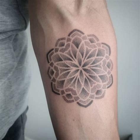 tattoo mandala dotwork dotwork mandala tattoo on forearm
