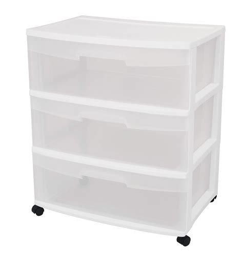 Sterilite Plastic Drawer by Sterilite Storage Container With 3 Drawer Storage Cart