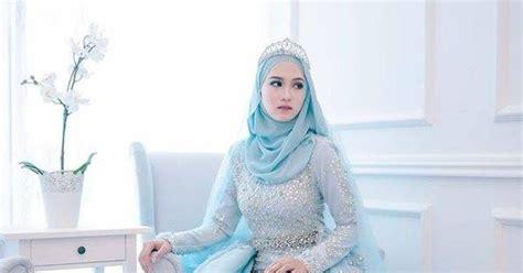 Baju Nikah Biru Lembut 4 foto baju pengantin leeyana rahman yang gila lawa pink bubblegum princess