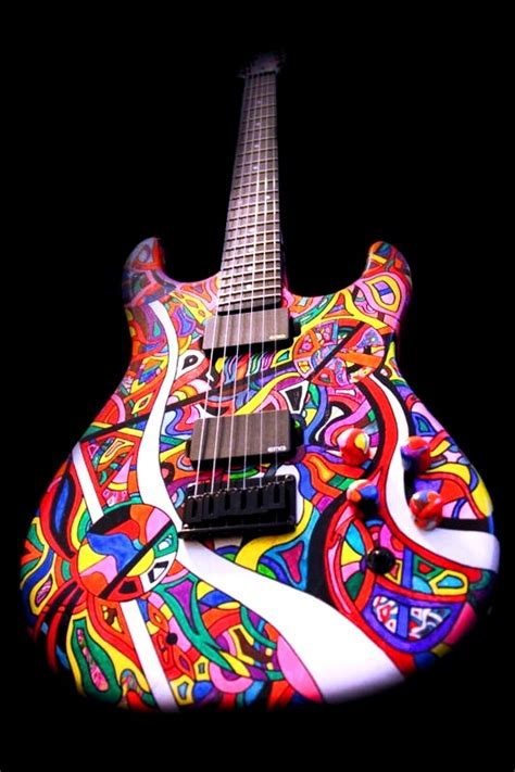 Colored Guitar by Rainbow Guitar Color