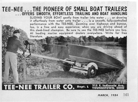boat trailers youngstown ohio 1954 vintage ad tee nee boat trailers effortless