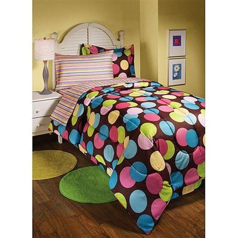 polka dot twin comforter polka dots hot dots twin brown pink comforter set 6