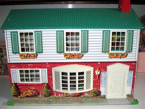 tin doll house tin dollhouse vintage toys pinterest