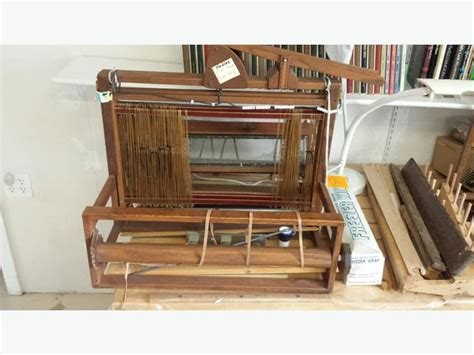 antique table top weaving loom and accessories saanich