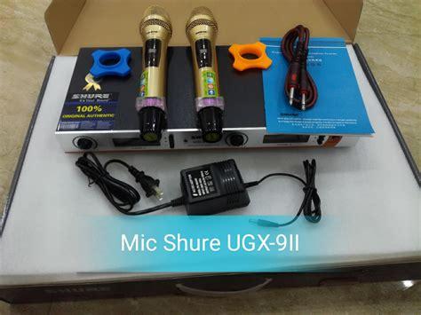 Mic Shure Ugx 3koperpegangpegang micro shure ugx9 ii