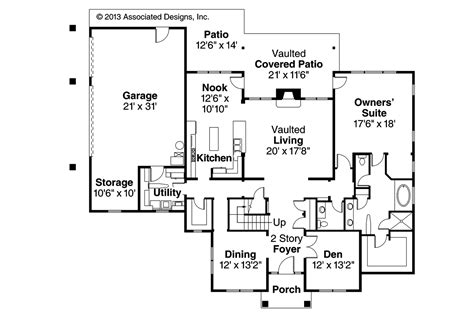 Traditional Floor Plans Traditional House Plans Fairbanks 30 648 Associated Designs