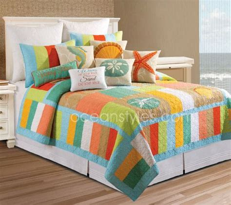 Tropical Quilts by Washed Ashore Bedding Bright And Funky Color Blocked