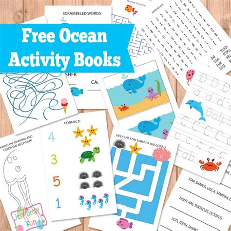 printable toddler activity book printable ocean activity books for kids free homeschool