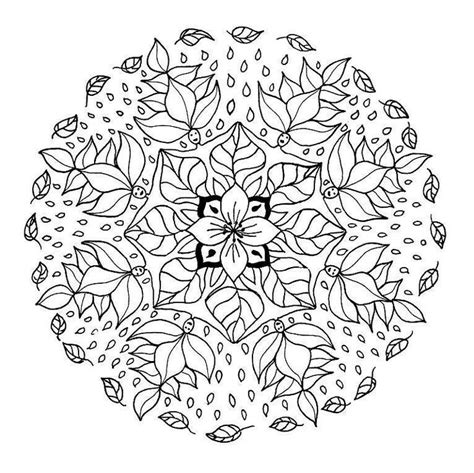 mandala coloring pages nature nature leaves coloring mandala coloring pages