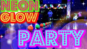 Black Light Party Decorations Teen Neon Glow Party Vlog Dodgeball Challenge Blacklight