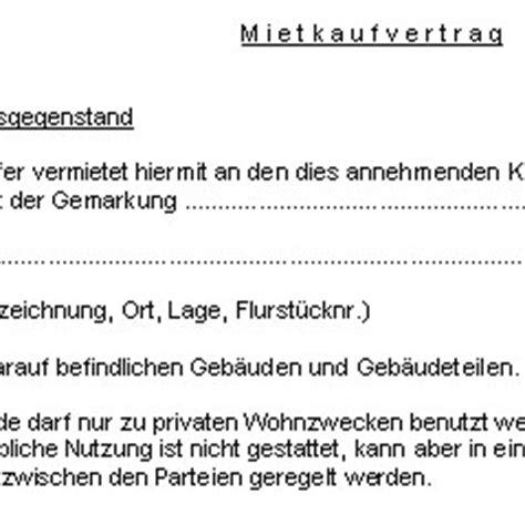 mietkaufvertrag haus ein guter baumeister h 228 usern muster mietkaufvertrag haus