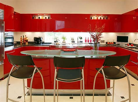 totally awesome red kitchen designs