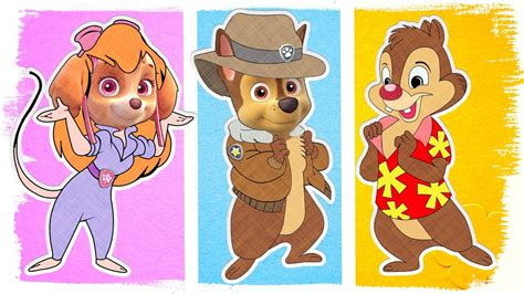 Chip And Dale Rescue Rangers Coloring Pages by Paw Patrol As Chip And Dale Rescue Rangers Coloring