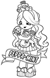 shopkins dolls colouring coloring pages