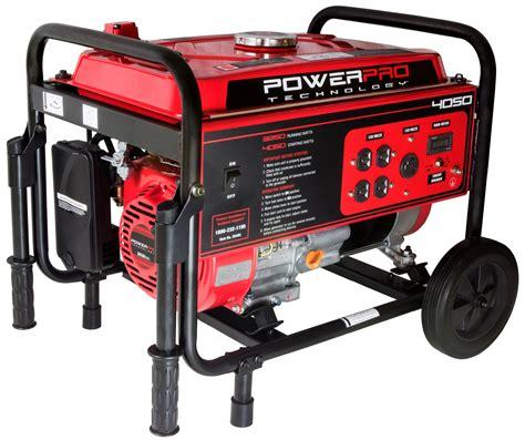gas to electricity generator power pro technology 56405 4050 watt generator with wheel kit