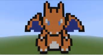 Minecraft pixel art pokemon charizard galleryhip com the hippest