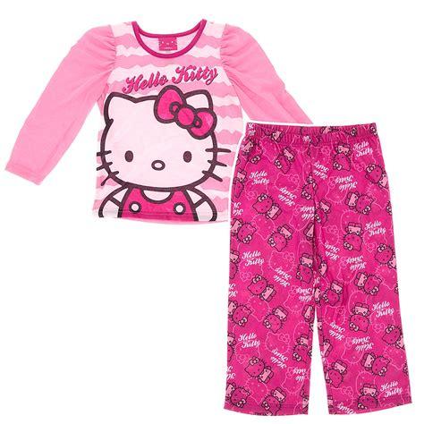 Pajamas Hello Pink pink and white hello pajamas for