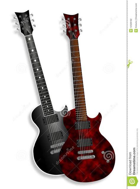 Imagenes De Guitarras Rojas | guitarras el 233 ctricas rojas y negras en blanco fotograf 237 a