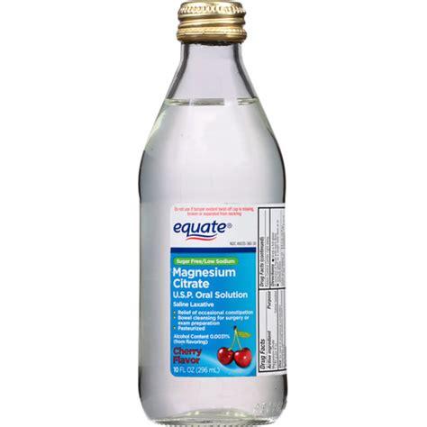 laxative walmart equate cherry flavor magnesium citrate solution saline laxative 10 fl oz